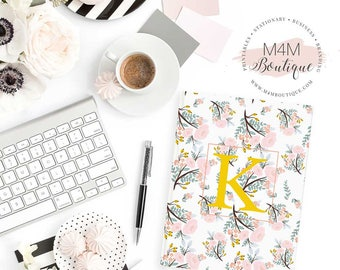 """Personalized Hardcover Journal • 5.75"""" x 7.5"""" • You choose color! • Home and Office Monogram Stationary"""