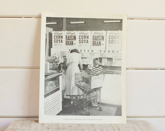 Vintage Photography Poster Print, Jim and Betty Help Mother