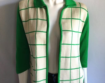 Vintage Women's 60's Mod, Cardigan Sweater by Stage 7 (M)