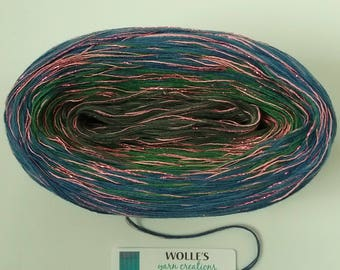 FANTASIA GLITTER -- Color Changing Cotton yarn  480 yards/100 gr  Fingering Weight