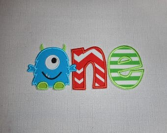 Free Shipping Ready to Ship ONE  Monster  Machine Embroidery Iron on applique