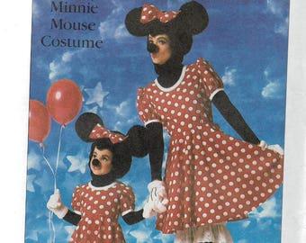 Uncut, Child Size 6-8, Vintage Sewing pattern, Simplicity 7730, Walt Disney's Minnie Mouse, Girl, Kids, Costume, Dress, Panties, Hat, Shoes