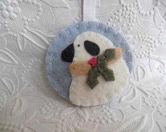 Felt Sheep Ornament Primitive Decoration Christmas Tree Winter Felted Wool