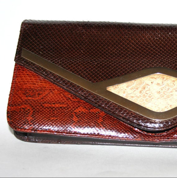 Oversized Snakeskin Clutch By Cuero Vaca