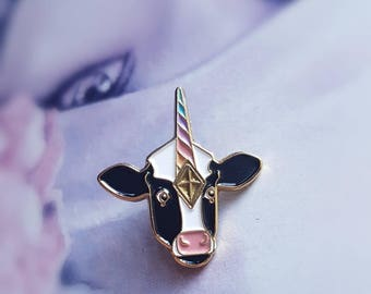 Moonicorn Pin 2 - Soft Enamel Pin