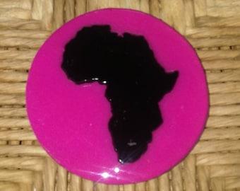 Africa Fridge Magnet Magenta Color