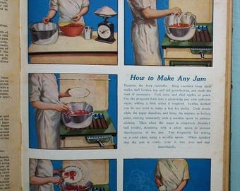 The Modern Housewife's Book Vintage 1930s Cooking Household Hints Motherhood Aunt Kate's Cookery Baking Books recipes jam making cakes etc