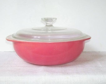 Pyrex Pink Flamingo Covered Bowl, 2 Qt Pyrex Pink Bowl, Home Decor