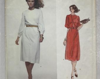 "sz 12 0r 14  Bust 34""  or 36"" Vintage Vogue Paris Original  Designer Sewing Pattern 1719 Givenchy Dress w Asymmetrical Bodice"