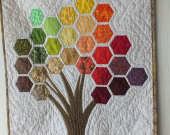 Fall Tree Wall Quilt Hexies