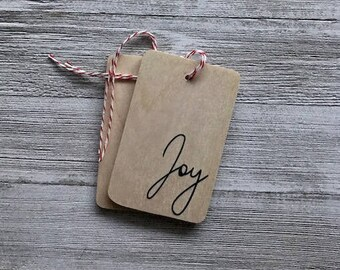Joy Wood Tag