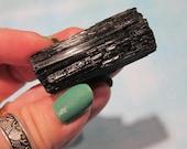 Black Tourmaline Schorl Specimen, Remove Negativity, Aura Cleanser, Dispell Fears, Mineral Specimen, Collectible 17T163