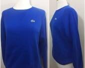 LACOSTE Izod Sweater / Vintage Lacoste Jumper / Blue Lacoste Sweater / Sweater Lacoste / Jumper Lacoste / Izod Lacoste/52/BlueSweater / Retr