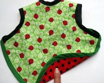 Bib Bapron Baby Girl Drool Bib Full Coverage Reversible Baby Bib Lady bugs