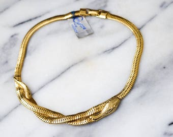 Vintage Snake Necklace With Origninal Tags c.1970s