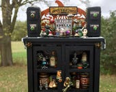 Dollhouse Miniature Witch Wizard Apothecary Cabinet