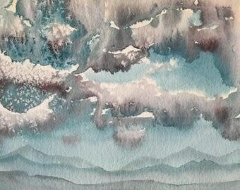 Original Watercolor Painting Landscape Utah Desert Watercolor Painting Original Painting 8x10 wall art