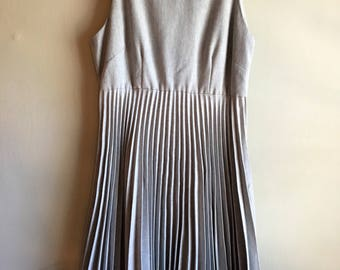 Vintage 90s Pleated Empire Waist Mini Dress