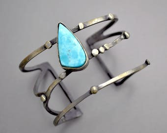 Strappy Cuff with Nevada Turquoise