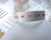 Call me by your name bracelet - James Ivory - Elio & Oliver - Handstamped - peach scene - it's better to speak or die? for lovers