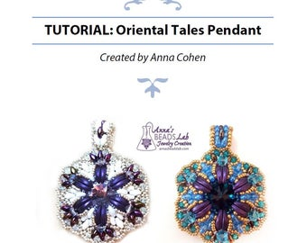 TUTORIAL Oriental Tales Pendant Instructions. For personal use only