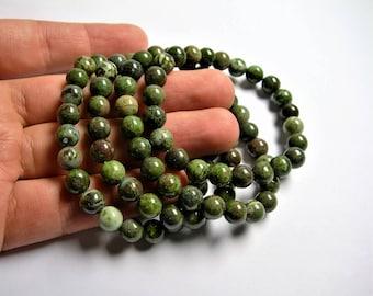 Cuprite   - 8mm round beads - 23 beads - 1 set  - HSG81
