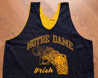Champion Notre Dame Basketball Mesh Practice Jersey, Vintage 80s, Fighting Irish, College University, Nylon Tank Top