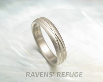 unique infinity ring -- 18k gold wedding band for men or women