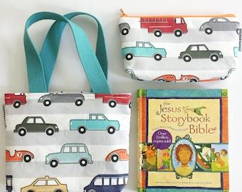 kid bible combo set -- striped cars