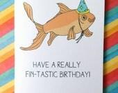 Fish birthday card!