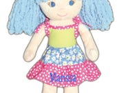 "PERSONALIZED Soft Cloth Dolly ""Sophia"" Baby Doll 14"" Tall"