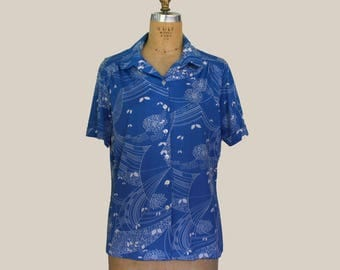 Alfred Dunner Short Sleeve Blue Button up