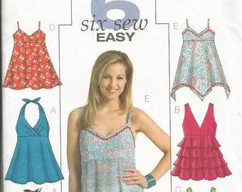 Butterick 4800  Six Sew Easy Top Pattern SZ 6-12