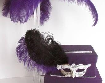 Masquerade Card Box, Sweet 16 Masquerade, Mitzvah Card Box, Card Holder, Money Box - Custom Made to Order