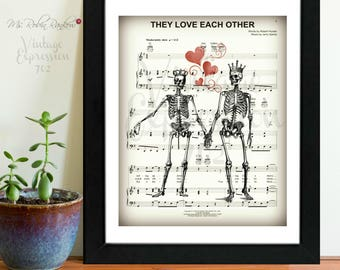 Grateful Dead, They Love Each Other, on Music Sheet, Print