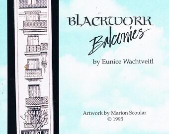 Blackwork Balconies by Eunice Wachtveitl for Sherwood Studio