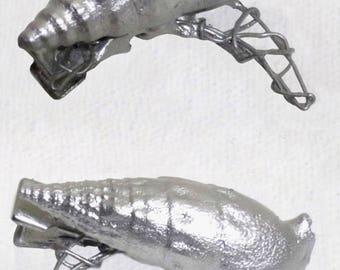 Silver SeaShell Hair Clips - Set of 2