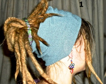 Select color: large headband tube for dreadlocks bohemian knitted