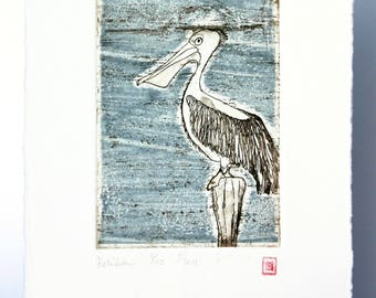 Pelican - Original Etching