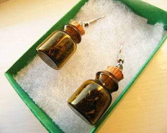 Tea Vial Earrings