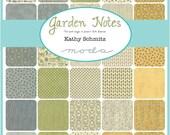 Garden Notes Fat Quarter Bundle by Kathy Schmitz for Moda