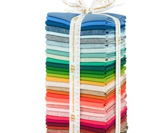 Elizabeth Hartman REEF COORDINATES, Kona Solid Fabric, Essex Yarn Dyed ,Fat Eighths Bundle, Nautical Nursery, Nautical Decor, Robert Kaufman