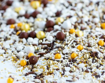 S'MORES & SPARKS Twinkle Sprinkle Medley, Cold Weather Sprinkles, Chocolate, Metallic, Fall Colours