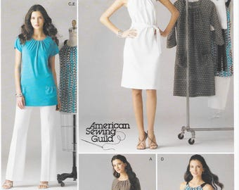 Simplicity 2925 Misses Petite Dress or Tunic, Tie Belt and Pants Sewing Pattern Size 6 to 14 Bust 30 1/2 to 36