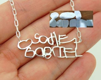 Necklace with Names - Kids Names Necklace for Mom - Kids Art Jewelry - Mom Necklace Kids Names - Gift for Mom