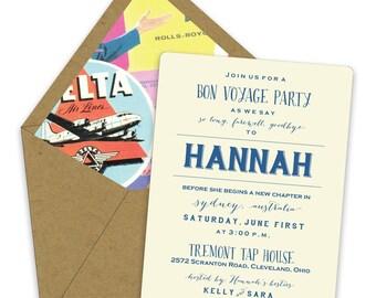 Bon Voyage Party Invitations