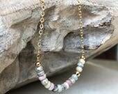 Sapphire Necklace, Multi Sapphire Necklace, Multi Sapphire, Gold or Silver Multi Sapphire Necklace, Gold or Silver Multi Sapphire Necklace