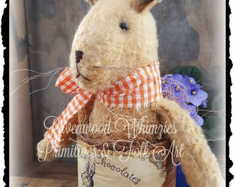 Primitive rabbit, Primitive Bunny, Prim Rabbit Bunny, primitive easter, prim easter, rabbit, hare, bunny, primitive easter decor