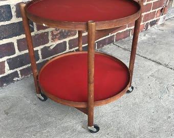 Mid-Century Modern Danish Foldable/Reversible Bar Cart