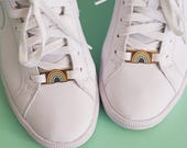 Rainbow pastel lace locks for sneakers